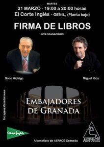 Firma de libros Miguel Ríos & Nono Hidalgo