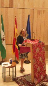 Encarnación Navas en el acto de entrega de los Premios Barreta 2015