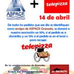 ASPACE en los Jueves solidarios de Telepizza
