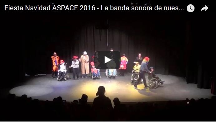 Fiesta navidad ASPACE Granada 2016