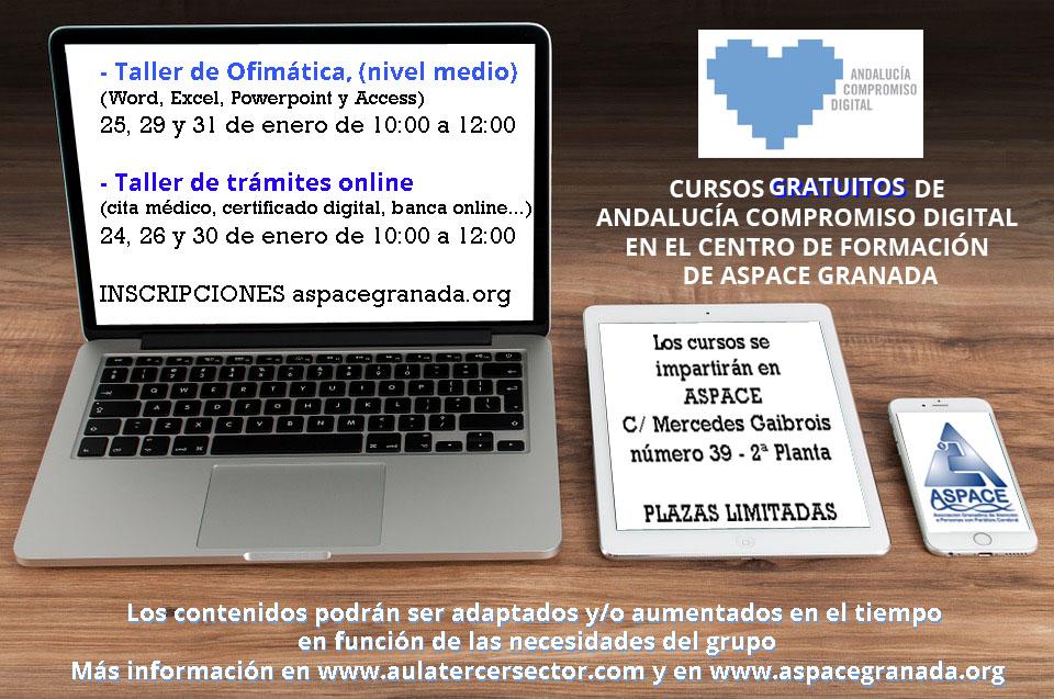CURSOS GRATUITOS DE ANDALUCÍA COMPROMISO DIGITAL EN ASPACE
