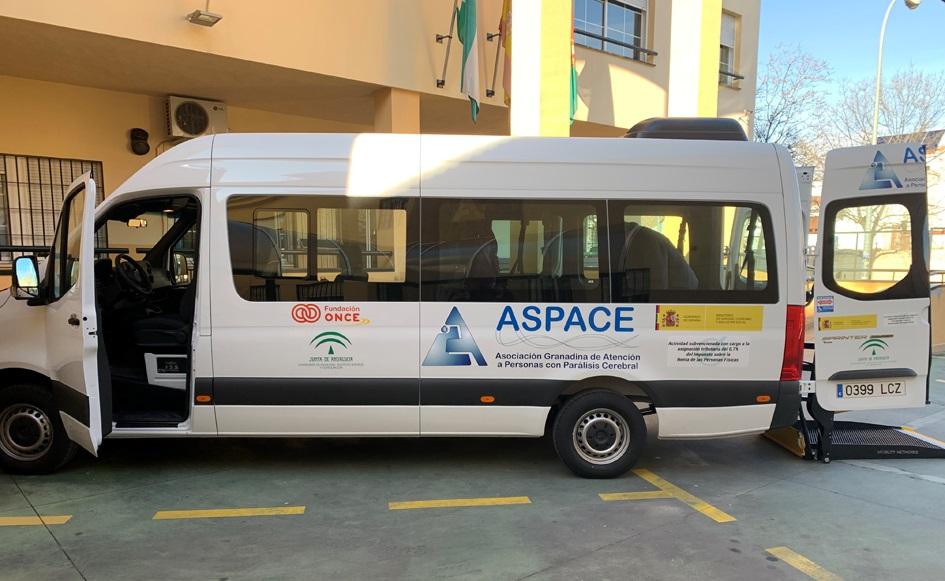 Nueva furgoneta ASPACE Granada