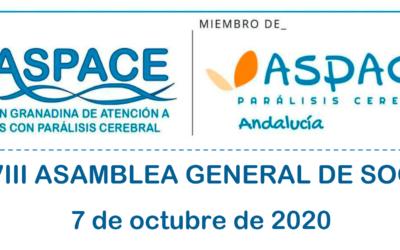 XXXIX ASAMBLEA GENERAL DE SOCIOS/AS ASPACE GRANADA
